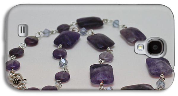 Handmade Jewelry Jewelry Galaxy S4 Cases - 3575 Amethyst Necklace Galaxy S4 Case by Teresa Mucha