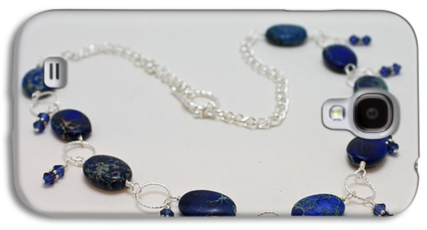 Handmade Jewelry Jewelry Galaxy S4 Cases - 3589 Blue Sea Sediment Jasper Necklace Galaxy S4 Case by Teresa Mucha