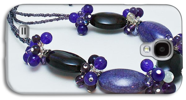Handmade Jewelry Jewelry Galaxy S4 Cases - 3598 Purple Cracked Agate Necklace Galaxy S4 Case by Teresa Mucha
