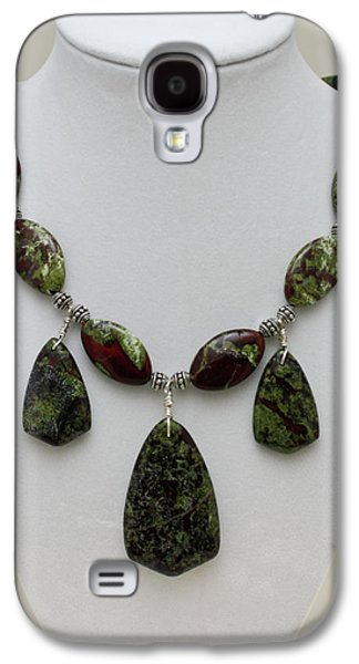 Handmade Jewelry Jewelry Galaxy S4 Cases - 3602 Dragons Blood Jasper Necklace Galaxy S4 Case by Teresa Mucha