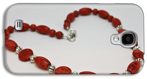 Handmade Jewelry Jewelry Galaxy S4 Cases - 3612 Red Coral Necklace Galaxy S4 Case by Teresa Mucha