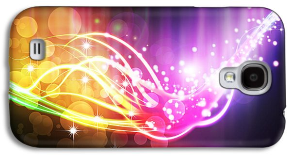 Blue Abstracts Galaxy S4 Cases - Abstract Lighting Effect  Galaxy S4 Case by Setsiri Silapasuwanchai