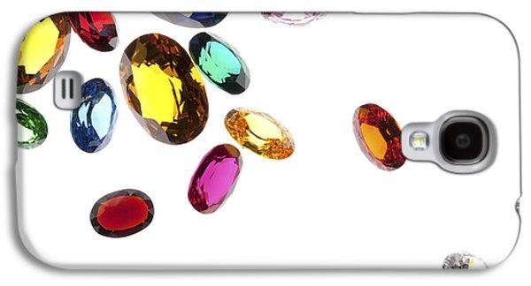 Red Jewelry Galaxy S4 Cases - Colorful Gems Galaxy S4 Case by Setsiri Silapasuwanchai