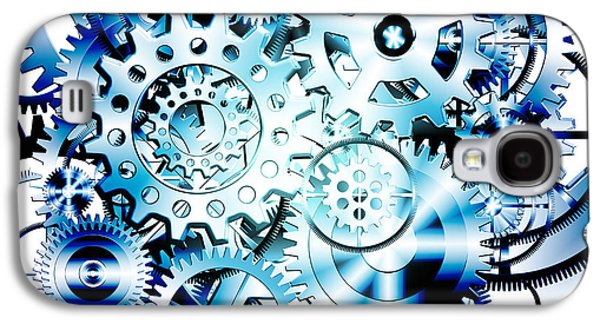 Enterprise Galaxy S4 Cases - Gears Wheels Design  Galaxy S4 Case by Setsiri Silapasuwanchai