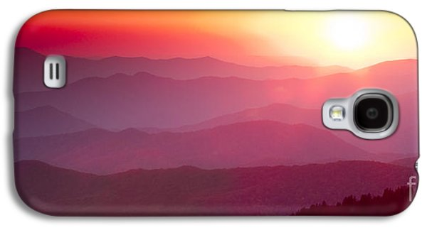 Amazing Sunset Galaxy S4 Cases - Great Smokie Mountains Sunset Galaxy S4 Case by Dustin K Ryan