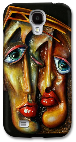 Relief Sculpture Reliefs Galaxy S4 Cases - Together Galaxy S4 Case by Michael Lang