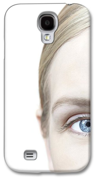 Right Side Galaxy S4 Cases - Womans Eye Galaxy S4 Case by