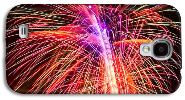 4th July Digital Galaxy S4 Cases - 4th of July - Independence Day Fireworks Galaxy S4 Case by Gordon Dean II