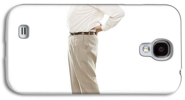 Button Down Shirt Photographs Galaxy S4 Cases - Back Pain Galaxy S4 Case by