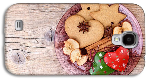Glitters Galaxy S4 Cases - Christmas Gingerbread Galaxy S4 Case by Nailia Schwarz