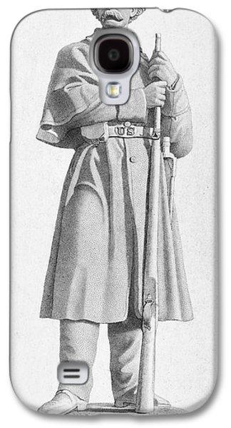 Statue Portrait Galaxy S4 Cases - Civil War: Soldier Galaxy S4 Case by Granger