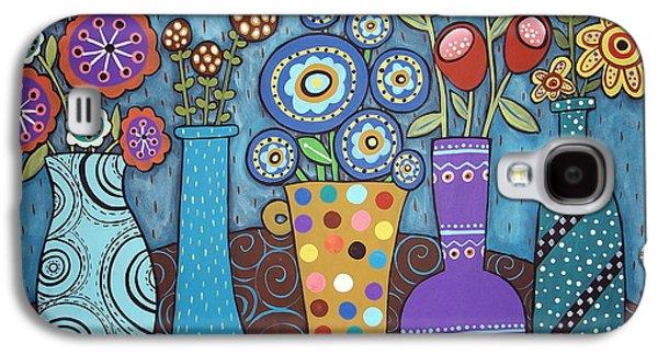 Unique Art Galaxy S4 Cases - 5 Flower Pots Galaxy S4 Case by Karla Gerard