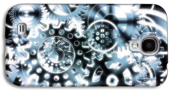 Component Photographs Galaxy S4 Cases - Gears Wheels Design  Galaxy S4 Case by Setsiri Silapasuwanchai