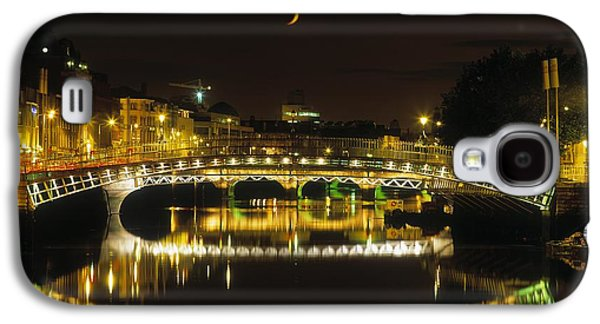 Reflections Of Sky In Water Galaxy S4 Cases - Hapenny Bridge, River Liffey, Dublin Galaxy S4 Case by The Irish Image Collection