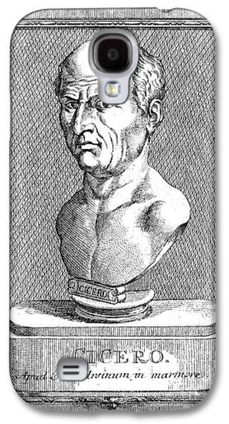 Statue Portrait Galaxy S4 Cases - Marcus Tullius Cicero Galaxy S4 Case by Granger