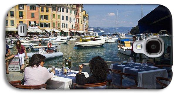 Portofino Cafe Galaxy S4 Cases - Portofino in the Italian Riviera in Liguria Italy Galaxy S4 Case by David Smith