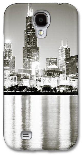 Landmarks Galaxy S4 Cases - Chicago Skyline at Night Galaxy S4 Case by Paul Velgos