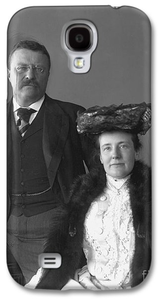 First Lady Galaxy S4 Cases - Theodore Roosevelt Galaxy S4 Case by Granger