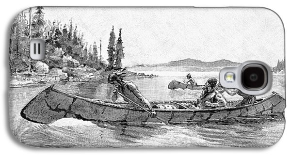 Canoe Drawings Galaxy S4 Cases - Canada Fur Trade Galaxy S4 Case by Granger
