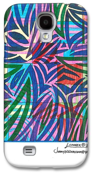Abstract Seascape Drawings Galaxy S4 Cases - Untitled Galaxy S4 Case by Jerry Conner