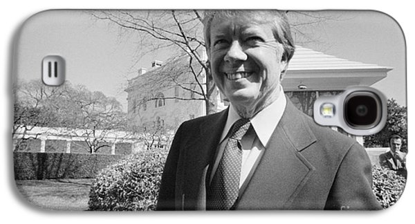 Carter House Galaxy S4 Cases - Jimmy Carter (1924- ) Galaxy S4 Case by Granger