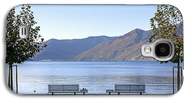 Airplane Photographs Galaxy S4 Cases - Lake Maggiore Galaxy S4 Case by Joana Kruse