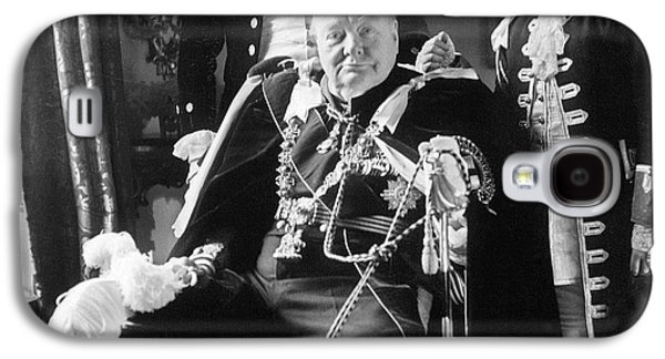 1950s Portraits Galaxy S4 Cases - Winston Churchill Galaxy S4 Case by Granger