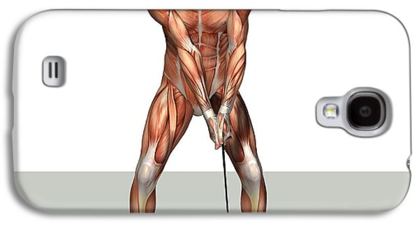 Sports Photographs Galaxy S4 Cases - Male Muscles, Artwork Galaxy S4 Case by Friedrich Saurer