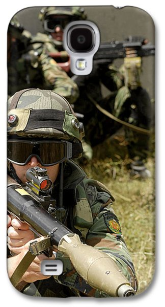 Rpg Galaxy S4 Cases - A Bulgarian Army Soldier, Scans Galaxy S4 Case by Stocktrek Images