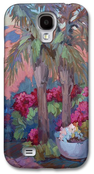Garden Scene Paintings Galaxy S4 Cases - A Burst of Red Galaxy S4 Case by Diane McClary