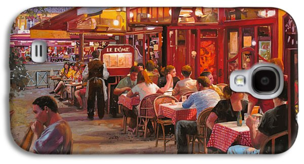 Street Paintings Galaxy S4 Cases - A Cena In Estate Galaxy S4 Case by Guido Borelli