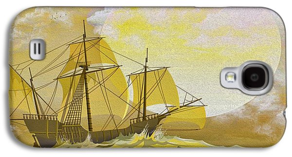 Sailboat Ocean Galaxy S4 Cases - A Day at Sea Galaxy S4 Case by Cheryl Young