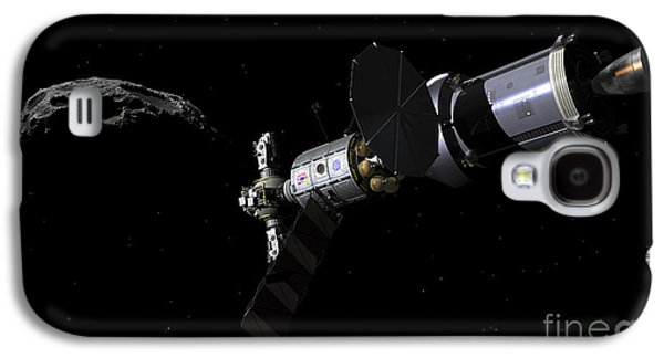 Planetoid Galaxy S4 Cases - A Deep Space Mission Vehicle Galaxy S4 Case by Walter Myers