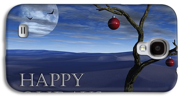 Digital Art Greeting Cards Galaxy S4 Cases - A Desert Christmas Galaxy S4 Case by Richard Rizzo