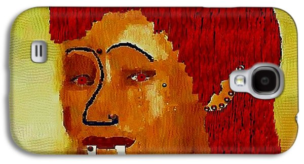 Folkloric Galaxy S4 Cases - A Female Modern Vampire Galaxy S4 Case by Pepita Selles