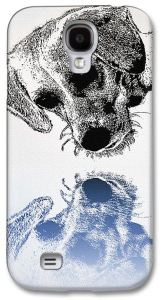 Puppy Digital Art Galaxy S4 Cases - A Friendly Reflection Galaxy S4 Case by Bill Cannon