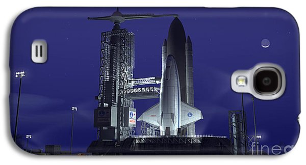 Terrene Galaxy S4 Cases - A Futuristic Space Shuttle Awaits Galaxy S4 Case by Walter Myers