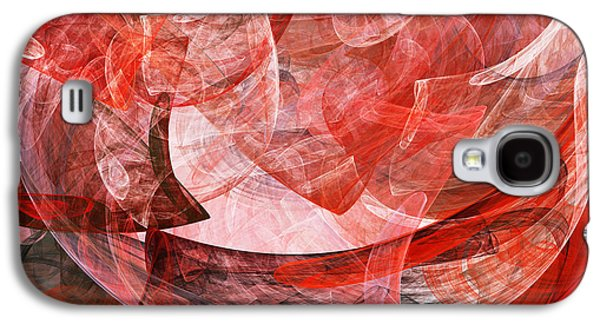 Algorithmic Digital Art Galaxy S4 Cases - A Mothers Womb . Square . A120422.446 Galaxy S4 Case by Wingsdomain Art and Photography