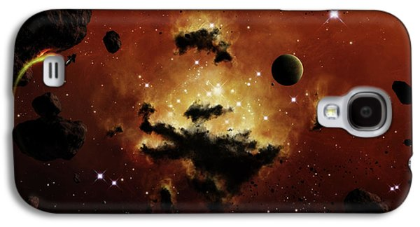 Intergalactic Space Galaxy S4 Cases - A Nebula Evaporates In The Far Distance Galaxy S4 Case by Brian Christensen