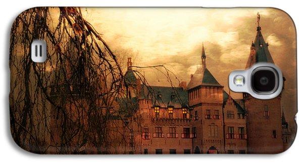 Creepy Digital Art Galaxy S4 Cases - A Night at the Castle Galaxy S4 Case by Danny Van den Groenendael