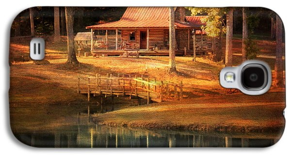 Log Cabin Photographs Galaxy S4 Cases - A Place To Dream Galaxy S4 Case by Jai Johnson