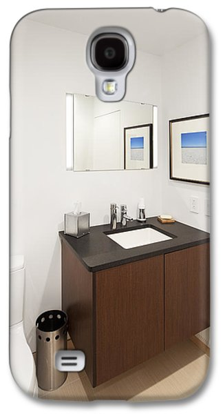 Electrical Equipment Photographs Galaxy S4 Cases - A Restroom Or Bathroom. Toilet Galaxy S4 Case by Christian Scully