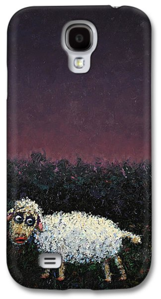 Popular Art Galaxy S4 Cases - A sheep in the dark Galaxy S4 Case by James W Johnson