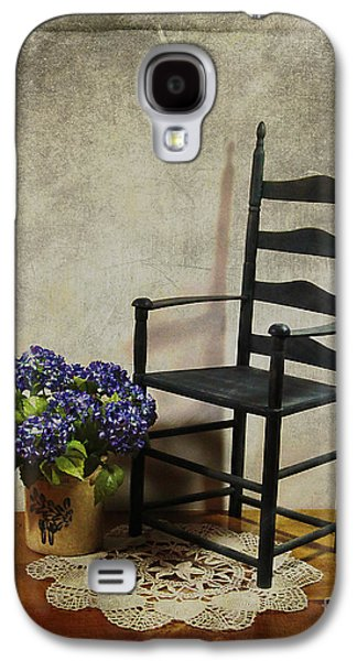 Ladderback Chair Galaxy S4 Cases - A Simpler Time Galaxy S4 Case by Judi Bagwell