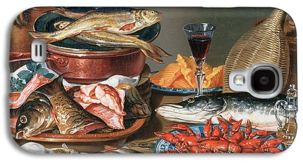 A Still Life Of A Fish Trout And Baby Lobsters Galaxy S4 Case by Anton Friedrich Harms
