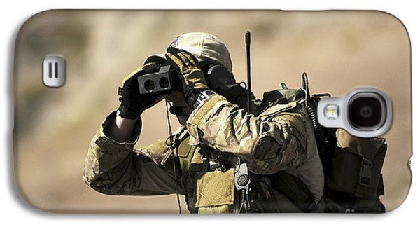 Rangefinder Galaxy S4 Cases - A U.s. Air Force Combat Controller Uses Galaxy S4 Case by Stocktrek Images