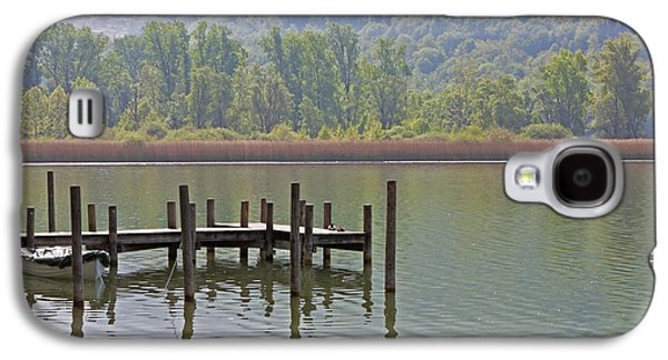Piano Photographs Galaxy S4 Cases - A Wooden Pier At A Small Lake Galaxy S4 Case by Joana Kruse