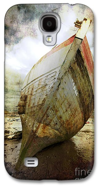 Storm Digital Art Galaxy S4 Cases - Abandoned Fishing Boat Galaxy S4 Case by Meirion Matthias
