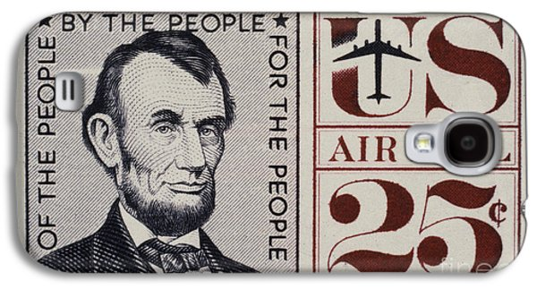 Republican Party Galaxy S4 Cases - ABRAHAM LINCOLN (1809-1865). 16th President of the United States. On a U.S. postage stamp, 1960 Galaxy S4 Case by Granger