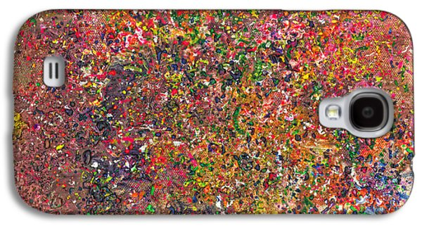 Abstract Movement Galaxy S4 Cases - Abstract - Crayon - A Genuine Fiasco Galaxy S4 Case by Mike Savad